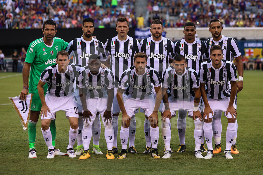 EAST RUTHERFORD, USA, 22.07.2017 - JUVENTUS-BARCELONA - Jogadores do Juventus  durante partida contra Barcelona valido pela  International Champions Cup 2017 no MetLife Stadium na cidade de East Rutherford, New Jersey. (Foto: Vanessa Carvalho/Brazil Photo Press)