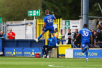 Marcus Forss of AFC Wimbledon scores the first goal for his team and celebrates during AFC Wimbledon vs Rochdale, Sky Bet EFL League 1 Football at the Cherry Red Records Stadium on 5th October 2019