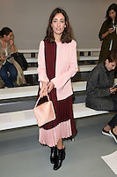 Laura Jackson<br /> at the Eudon Choi catwalk show as part of London Fashion Week SS17, Brewer Street Car Park, Soho London<br /> <br /> <br /> &copy;Ash Knotek  D3155  16/09/2016