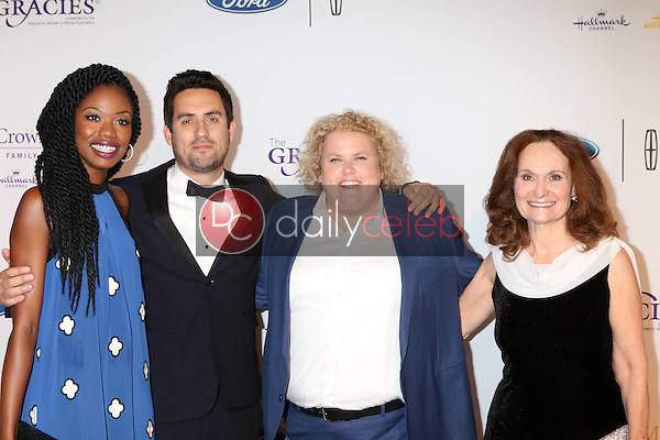 Xosha Roquemore, Ed Weeks, Fortune Feimster, Beth Grant<br /> at the 41st Annual Gracie Awards Gala, Beverly Wilshire Hotel, Beverly Hills, CA 05-24-16<br /> David Edwards/DailyCeleb.com 818-249-4998
