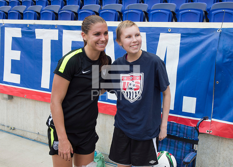 Harrison, NJ - May 29, 2015: The USWNT trained in preparation for their friendly against South Korea at Red Bull Arena.