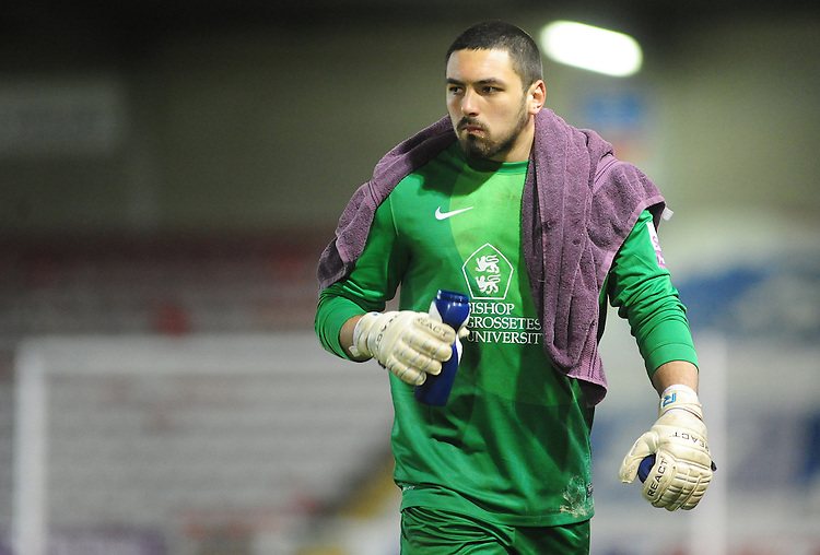 Lincoln City's Nick Townsend <br /> <br /> Photo by Chris Vaughan/CameraSport<br /> <br /> Football - The Skrill Premier - Lincoln City v Welling United - Tuesday 11th March 2014 - Gelder Group Sincil Bank Stadium - Lincoln<br /> <br /> &copy; CameraSport - 43 Linden Ave. Countesthorpe. Leicester. England. LE8 5PG - Tel: +44 (0) 116 277 4147 - admin@camerasport.com - www.camerasport.com