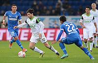 FUSSBALL  1. BUNDESLIGA  SAISON 2012/2013  14. SPIELTAG     TSG 1899 Hoffenheim - VfL Wolfsburg       18.11.2012 Diego (li, VfL Wolfsburg) gegen Roberto Firmino (TSG 1899 Hoffenheim)