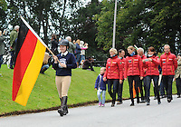 Blair Atholl, Scotland, UK. 8th September, 2015. Longines  FEI European Eventing Championships 2015, Blair Castle.Opening Ceremony. Germany © Julie Priestley