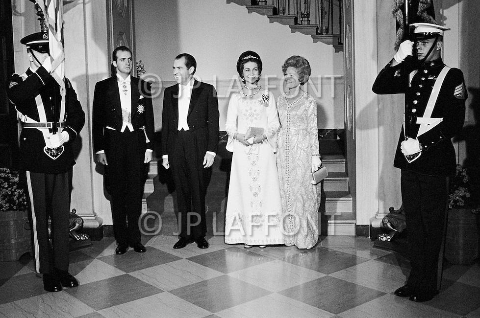 26 Jan 1971, Washington, DC, USA --- Juan Carlos of Spain Attending Gala at White House --- Image by © JP Laffont