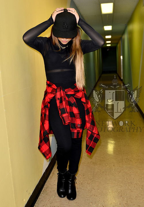 MIAMI, FL - SEPTEMBER 23: Becky G backstage during J Balvin ' La Familia' tour at James L Knight Center on Wednesday September 23, 2015 in Miami, Florida. ( Photo by Johnny Louis / jlnphotography.com )