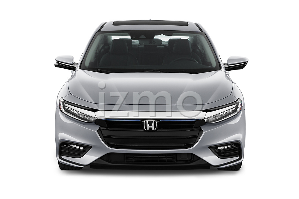 Car photography straight front view of a 2020 Honda Insight Touring 5 Door Hatchback