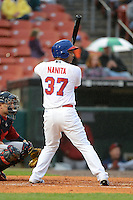 Buffalo Bisons outfielder Ricardo Nanita #37 during the second game of a double header against the Lehigh Valley IronPigs on June 7, 2013 at Coca-Cola Field in Buffalo, New York.  Lehigh Valley defeated Buffalo 4-0.  (Mike Janes/Four Seam Images)