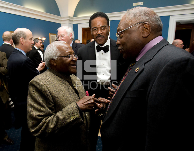 Ed Foster-Simeon, Desmond Tutu, James Clyburn. The 2010 US Soccer Foundation Gala was held at City Center in Washington, DC.
