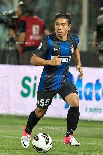 "Yuto Nagatomo (Inter), .AUGUST 26, 2012 - Football / Soccer : .the Italian ""Serie A"" match between Pescara 0-3 Inter Milan at Adriatico Stadium, Pescara, Italy. . (Photo by Enrico Calderoni/AFLO SPORT)"