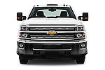 Car photography straight front view of a 2016 Chevrolet Silverado-3500HD LT-Crew-Cab-Long-Box-DRW 4 Door Pick-up Front View