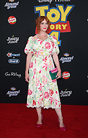 "11 June 2019 - Hollywood, California - Christina Hendricks. Premiere Of Disney And Pixar's ""Toy Story 4""  held at El Capitan theatre. Photo Credit: Faye Sadou/AdMedia"