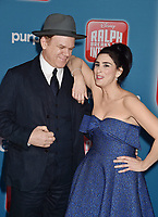 HOLLYWOOD, CA - NOVEMBER 05: John C. Reily and Sarah Silverman attend the Premiere Of Disney's 'Ralph Breaks The Internet' at the El Capitan Theatre on November 5, 2018 in Los Angeles, California.<br /> CAP/ROT/TM<br /> &copy;TM/ROT/Capital Pictures