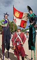 The Renaissance Fair is held each September at the historic museum of El Rancho de Las Golondrinas near Santa Fe and features dancers, kinghts, acrobats and many other performers all celebrating the culture and life style of the Medieval Middle Ages. Clan Tynker members Rebeccah and Santiago pose with a Guard.