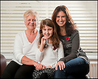 BNPS.co.uk (01202 558833)<br /> Pic: PhilYeomans/BNPS<br /> <br /> Proud family - Elizabeth Turner with her grandfathers MM and Sheila(grandmum) and mum Angela.<br /> <br /> A nine-year-old girl's school project has led her family to find her war hero great-grandfather's gallantry medal they knew nothing about.<br /> <br /> Elizabeth Turner asked her grandmother Sheila Scott for help with her homework on World War Two and was told about a late relative who fought in Europe.<br /> <br /> James Angel was a modest man who rarely spoke about his experiences of war, including<br /> winning the Military Medal for one incredibly heroic action.<br /> <br /> Sapper Angel put himself in the line of fire when Allied soldiers were pinned down by Germans as they tried to cross the Rhine in Germany in March 1945.<br /> <br /> With great risk to his own life, he drew enemy fire away from his comrades by engaging them with his Bren gun and allowed the British to locate and silence the Germans.<br /> <br /> It is believed that after the war Mr Angel sold his Military Medal to help provide for his seven children.<br /> <br /> His family knew he once had a 'special medal' but had no idea what it was or was for until Elizabeth began her school project two weeks ago.<br /> --