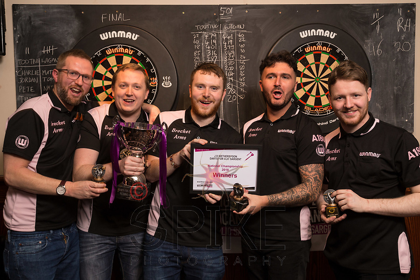 The Brocket Arms pub team were delighted to win the tournament