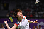 Akane Yamaguchi (JPN), <br /> AUGUST 22, 2018 - Badminton : Women's Team Final match between China 1-3 Japan at Gelora Bung Karno Istora during the 2018 Jakarta Palembang Asian Games in Jakarta, Indonesia. <br /> (Photo by MATSUO.K/AFLO SPORT)