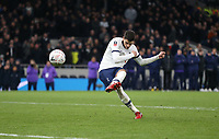 Tottenham Hotspur's Erik Lamela misses his penalty during the shoot-out<br /> <br /> Photographer Rob Newell/CameraSport<br /> <br /> The Emirates FA Cup Fifth Round - Tottenham Hotspur v Norwich City - Wednesday 4th March 2020 - Tottenham Hotspur Stadium - London<br />  <br /> World Copyright © 2020 CameraSport. All rights reserved. 43 Linden Ave. Countesthorpe. Leicester. England. LE8 5PG - Tel: +44 (0) 116 277 4147 - admin@camerasport.com - www.camerasport.com