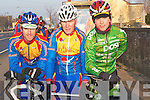CYCLE: Going for a warm up before they head off on a 20k cycle in training for next Sunday 24 February were l-r: Niall Brosnan, Matt Lacey and Denis Dunworth of the Earl of Desmond Cycling Team.   Copyright Kerry's Eye 2008