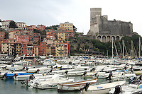Una veduta del porto di Lerici, col Castello in alto sulla destra.<br /> A view of the harbor of Lerici, with the Castle at top right.<br /> UPDATE IMAGES PRESS/Riccardo De Luca