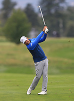 Filipe Aguilar (CHI) on the 5th fairway during Round 3 of the D+D Real Czech Masters at the Albatross Golf Resort, Prague, Czech Rep. 02/09/2017<br /> Picture: Golffile | Thos Caffrey<br /> <br /> <br /> All photo usage must carry mandatory copyright credit     (&copy; Golffile | Thos Caffrey)