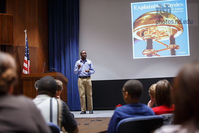 3.18.13 William Kamkwamba presentation at Notre Dame Conference Center