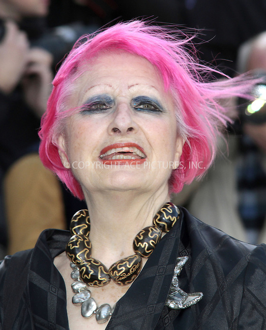 WWW.ACEPIXS.COM....US Sales Only....Zandra Rhodes at the memorial service for Vidal Sassoon at St Pauls Cathedral on October 12 2012  in London ....By Line: Famous/ACE Pictures......ACE Pictures, Inc...tel: 646 769 0430..Email: info@acepixs.com..www.acepixs.com