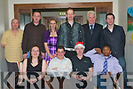 JINGLE BELLS: Members of Sporting Chance enjoying the fun at the National Learning Network Christmas party at the Manor West Hotel on Friday seated l-r: Bernie O'Regan, Brian Stapelton, Ross Gallagher and John Popoola. Back l-r: Nigel Baldock, Conor Cronin, Amanda Crotty, Anthony Kerrison, Jim Behan and Paul Whyte.   Copyright Kerry's Eye 2008