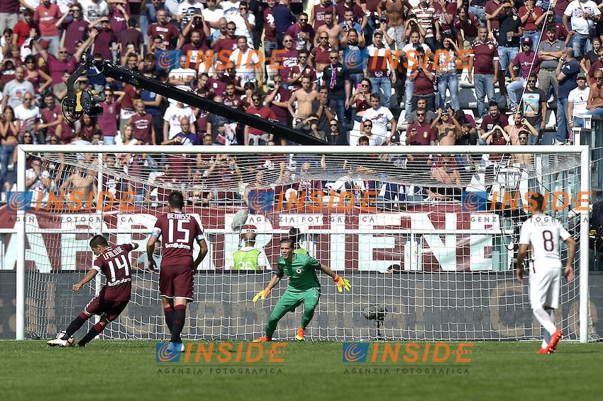 Iago Falque Torino realizza il rigore del 2-0 gol, goal celebration,<br /> Torino 25-09-2016, Stadio Olimpico Grande Torino, Football Calcio 2016/2017 Serie A, Torino - Roma, Foto Filippo Alfero/Insidefoto