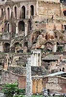 The ruins of the Roman Forum, Rome, Italy