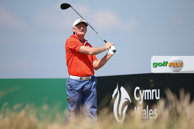 Chris Williams (ENG) remains in touch with leader Bernhard Langer (GER) after Round Two of the 2014 Senior Open Championship presented by Rolex from Royal Porthcawl Golf Club, Porthcawl, Wales. Picture:  David Lloyd / www.golffile.ie