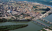 Chattanooga Historic 1975 aerial photo