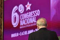 BRASÍLIA, DF, 01.06.2017 – DILMA-LULA – O ex-presidente Luiz Inácio Lula da Silva durante o 6º Congresso Nacional do PT em Brasília, nesta quinta-feira, 01. (Foto: Ricardo Botelho/Brazil Photo Press)