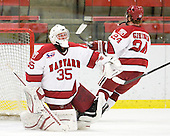 Ryan Carroll (Harvard - 35) - The Harvard University Crimson defeated the St. Lawrence University Saints 4-3 on senior night Saturday, February 26, 2011, at Bright Hockey Center in Cambridge, Massachusetts.