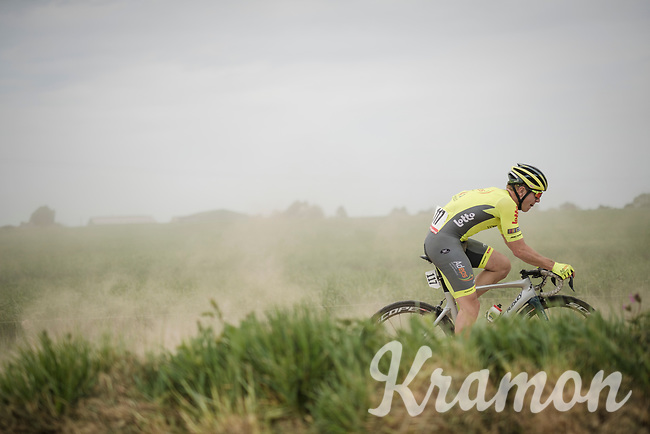 Lionel Taminiaux (BEL/Wallonie-Bruxelles) racing over the Breton gravel roads<br /> <br /> 36th TRO BRO LEON 2019 (FRA)<br /> One day race from Plouguerneau to Lannilis (205km)<br /> <br /> ©kramon