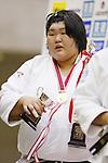 Sara Asahina, September 14, 2014 - Judo : All Japan Junior Judo Championships Women's +78kg victory ceremony at Saitama Prefectural Budokan, Saitama, Japan. (Photo by Yusuke Nakanishi/AFLO SPORT) [1090]