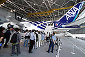 September 28, 2011, Tokyo, Japan - All Nippon Airways first all-new Boeing 787 Dreamliner is shown to the media following its arrival at Tokyos Haneda Airport on Wednesday, September 28, 2011. Powered by two Rolls-Royce Trent 1000 engines, the world's first carbon-composite passenger jetliner will make commercial flights on a route between Narita International Airport, east of Tokyo, and Hong Kong. (Photo by AFLO) [3609] -mis-