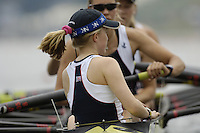 Poznan, POLAND.  2006, FISA, Rowing, World Cup, AUS W8+ bow  Robyn SELBY SMITH, Jo LUTZ,  Amber BRADLEY,  Kate HORNSY, Kim CROW, Sarah  COOK,  Emily MARTIN,  Sarah HEARD,  cox  Lizzy PATRICK, move  away from  the  start, on the Malta  Lake. Regatta Course, Poznan, Thurs. 15.05.2006. © Peter Spurrier   ...[Mandatory Credit Peter Spurrier/ Intersport Images] Rowing Course:Malta Rowing Course, Poznan, POLAND