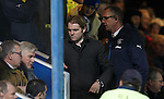 Hearts manager Robbie Neilson takes his seat in the stand