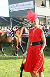 Winner of the Best Dressed Lady Competition, Lynn Keeley at the Bellewstown Races...Photo NEWSFILE/Jenny Matthews.(Photo credit should read Jenny Matthews/NEWSFILE)....This Picture has been sent you under the condtions enclosed by:.Newsfile Ltd..The Studio,.Millmount Abbey,.Drogheda,.Co Meath..Ireland..Tel: +353(0)41-9871240.Fax: +353(0)41-9871260.GSM: +353(0)86-2500958.email: pictures@newsfile.ie.www.newsfile.ie.FTP: 193.120.102.198.