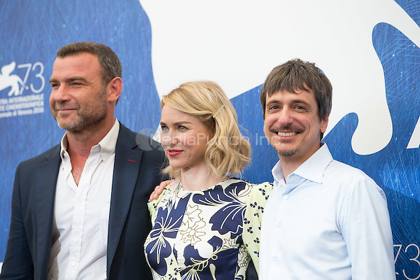 Liev Schreiber, Naomi Watts, Philippe Falardeau  at the photocall for The Bleeder at the 2016 Venice Film Festival.<br /> September 2, 2016  Venice, Italy<br /> CAP/KA<br /> &copy;Kristina Afanasyeva/Capital Pictures /MediaPunch ***NORTH AND SOUTH AMERICAS ONLY***