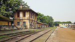 Railway Station In Sanshui (Samshui).  The Station Dates Back At Least To 1903 Although It Is Unclear This Is The Original Building.