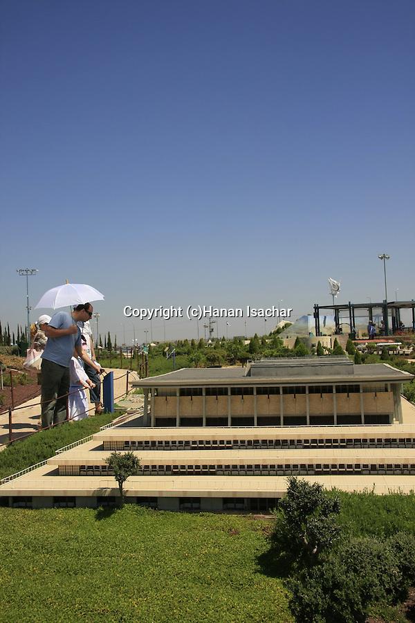Israel, Shephelah. A model of the Knesset in Mini Israel park