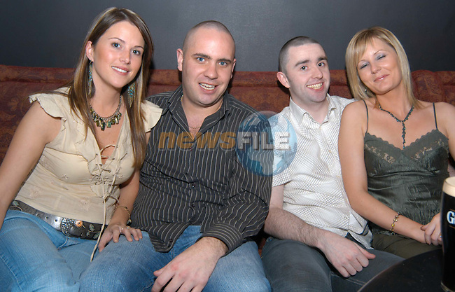 Grainne Lally,Eoin Hallinan and Paul Rogers helping Tracy Rogers (right) to celebrate her 30th birthday in Storm. .Photo: Colin Bell / Newsfile
