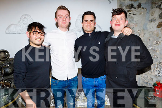 Liam Downing from Tralee celebrating his birthday in Bella Bia on Thursday.<br /> Seated l to r: Edwin Byrne, Liam Downing, Stephen Doyle and Jamie O'Driscoll.
