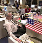 Vince Antoine of Newsday photo department staff at Newsday's main office in Melville on Tuesday December 10, 2002. (Newsday photo by Jim Peppler).