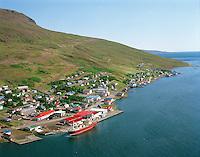 Eskifjörður Fjarðabyggð - Eskifjordur  Fjardabyggd - Aerial