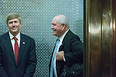 "Former Governor George ""Sonny"" Perdue (Republican of Georgia), right, arrives for a meeting with United States President-elect Donald Trump at Trump Tower in New York, New York, USA on November 30, 2016. <br /> Credit: Albin Lohr-Jones / Pool via CNP"