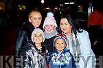 Claire Culloty, Morgan O'Sullivan, Kayleigh O'Brien, Tristan and Jacqui O'Sullivan Tralee at the Kiilarney Christma parade on Saturday night