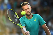 8th January 2018, ASB Tennis Centre, Auckland, New Zealand; ASB Classic, ATP Mens Tennis;  Michael Venus (NZL) during the ASB Classic ATP Men's Tournament Day 1